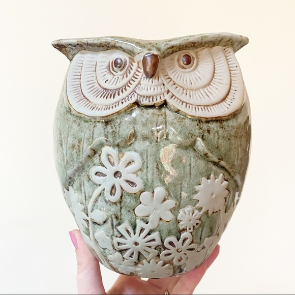 Ceramic Owl House Plant Planter Home Decor